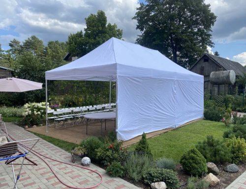 Saliekamās teltis